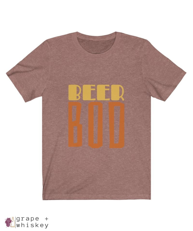 BeerBod Men's Short Sleeve T-shirt - Heather Mauve / 2XL - Grape and Whiskey