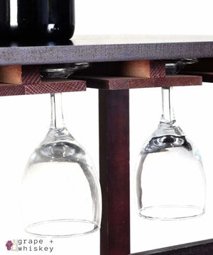 Burgundy Wine Rack for 24 Bottles -  - Grape and Whiskey