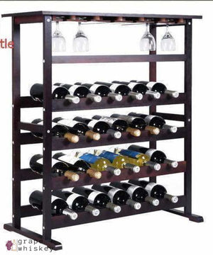 Burgundy Wine Rack for 24 Bottles - Grape + Whiskey - grapeandwhiskey.com