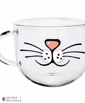 Cat Mustache Mug - Default Title - Grape and Whiskey