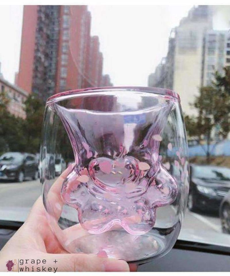 Cat Paw Whiskey and Wine Glass -  - Grape and Whiskey