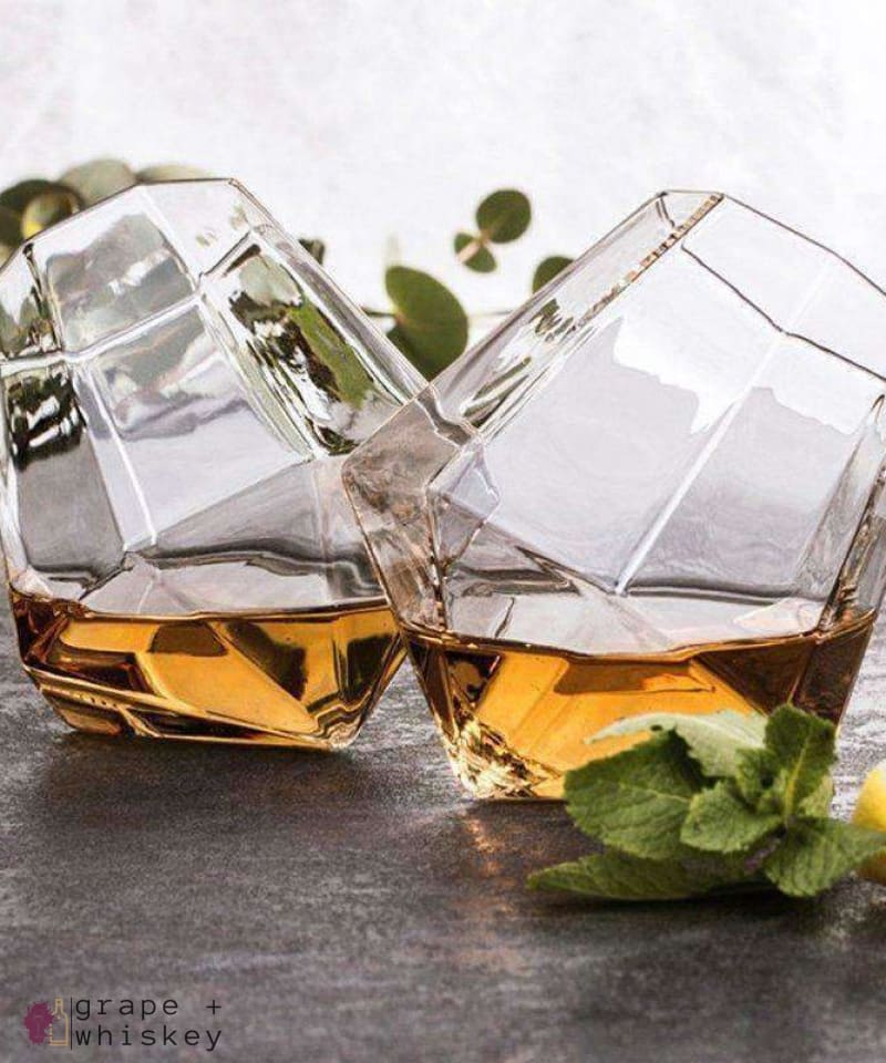 Diamond Whiskey Glasses - Grape + Whiskey - grapeandwhiskey.com