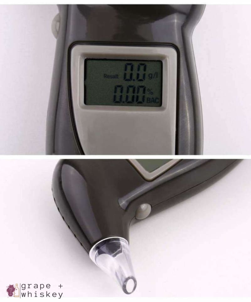 Digital Alcohol Breathalyzer Keychain -  - Grape and Whiskey