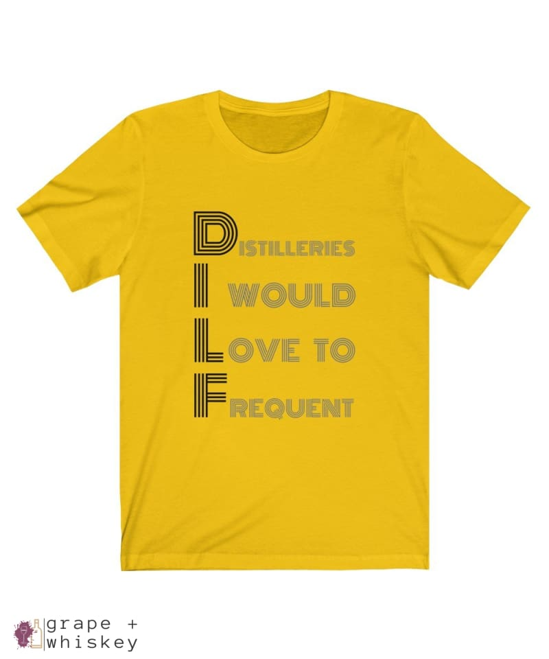 DILF Short Sleeve T-shirt - Maize Yellow / 2XL - Grape and Whiskey