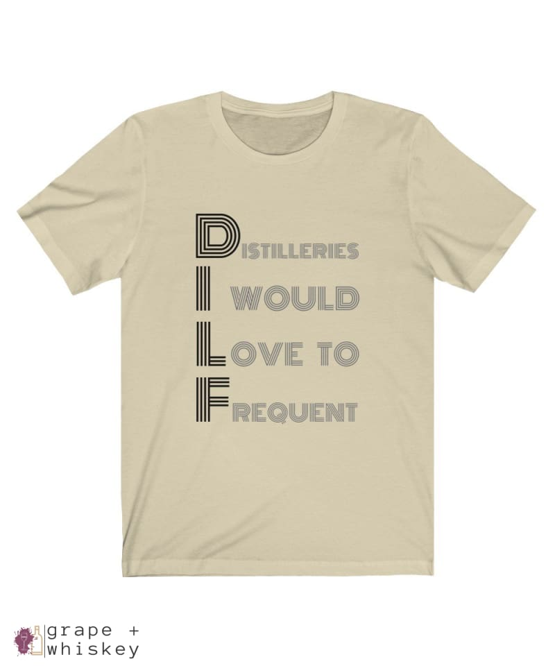 DILF Short Sleeve T-shirt - Natural / 2XL - Grape and Whiskey