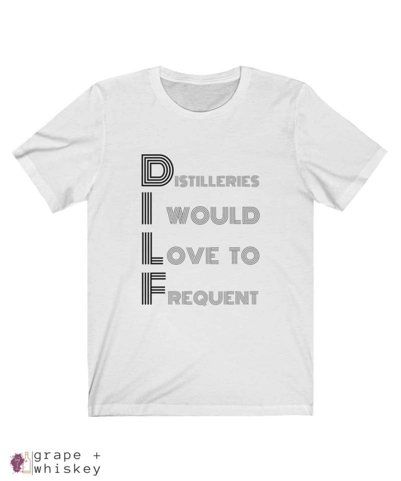 DILF Short Sleeve T-shirt - Solid White Blend / 2XL - Grape and Whiskey