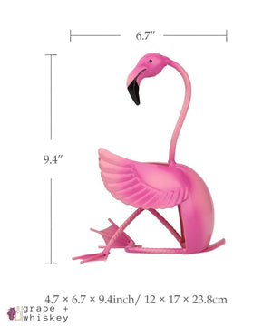Flamingo Wine Bottle Holder -  - Grape and Whiskey