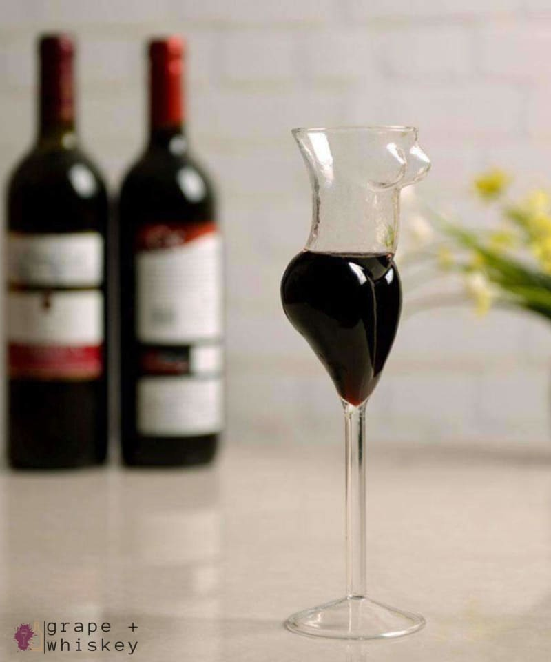 Full Figured Wine Glass - Grape + Whiskey - grapeandwhiskey.com