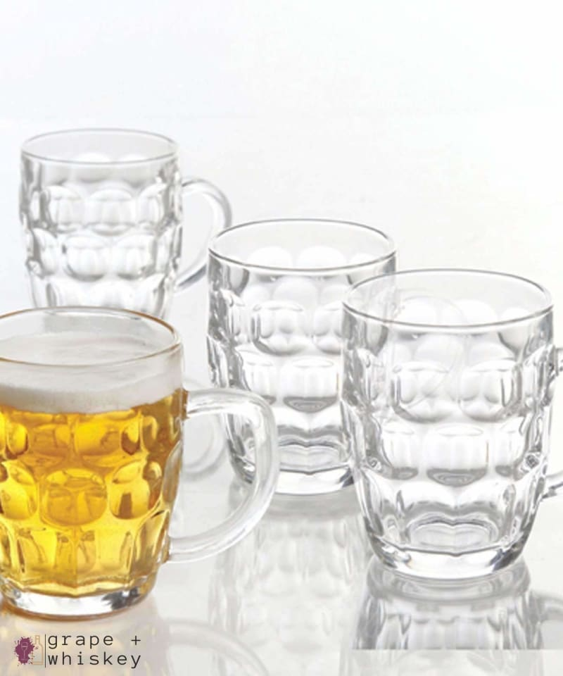 General Store 4 Piece 18 oz. Glass Beer Mug Set - Grape + Whiskey - grapeandwhiskey.com