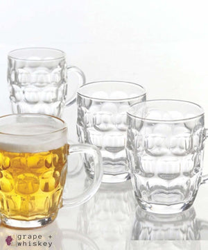 General Store 4 Piece 18 oz. Glass Beer Mug Set -  - Grape and Whiskey