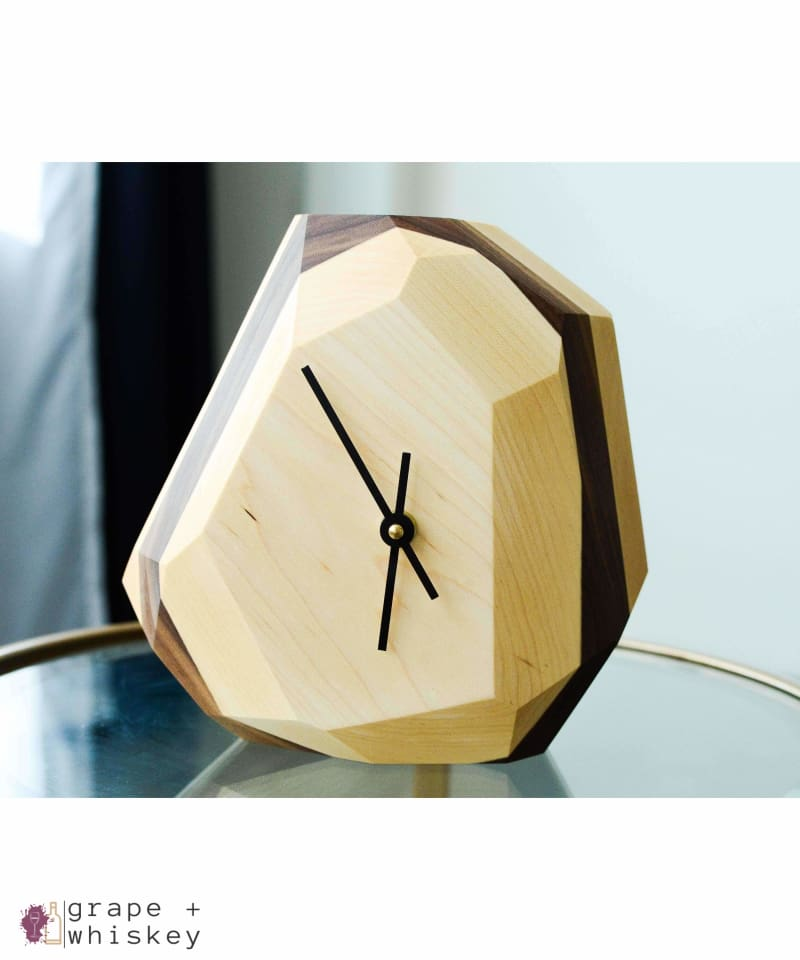 Geometric Wall & Table Clock - Maple -  - Grape and Whiskey