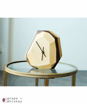 Geometric Wall & Table Clock - Maple - Grape + Whiskey - grapeandwhiskey.com