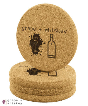Grape + Whiskey Coasters -  - Grape and Whiskey