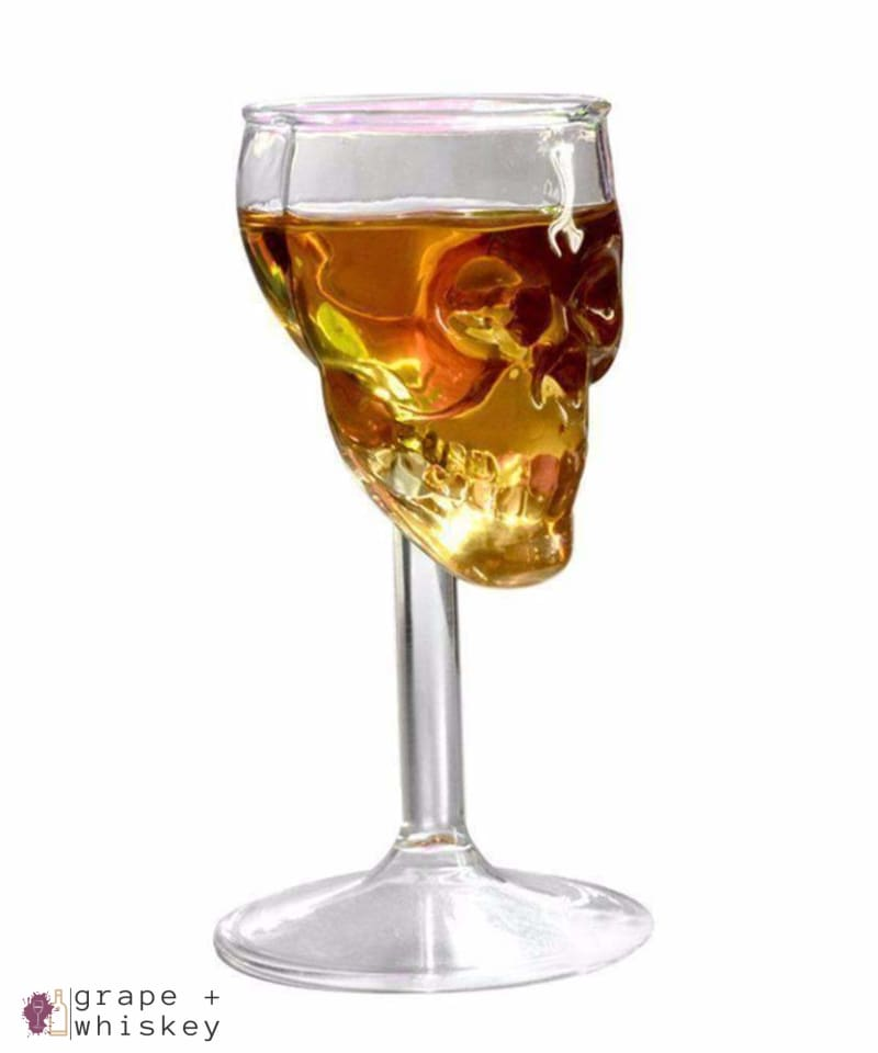 Handmade Skull Glass for Whiskey or Wine - Default Title - Grape and Whiskey