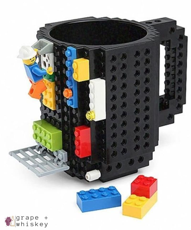 Lego Beer Mug - Drink Safe! - black / 350 ml - Grape and Whiskey