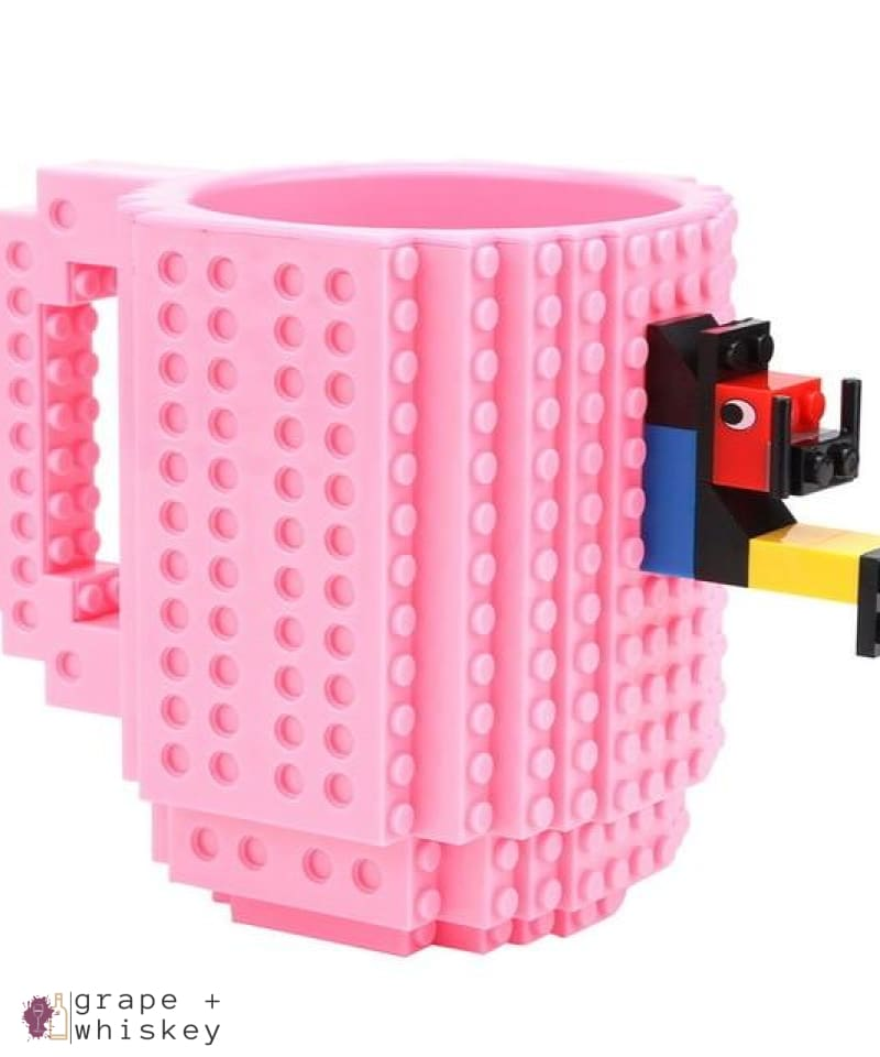 Lego Beer Mug - Drink Safe! - Pink / 350 ml - Grape and Whiskey