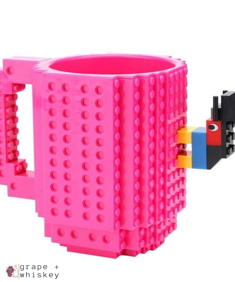 Lego Beer Mug - Drink Safe! - Rose red / 350 ml - Grape and Whiskey