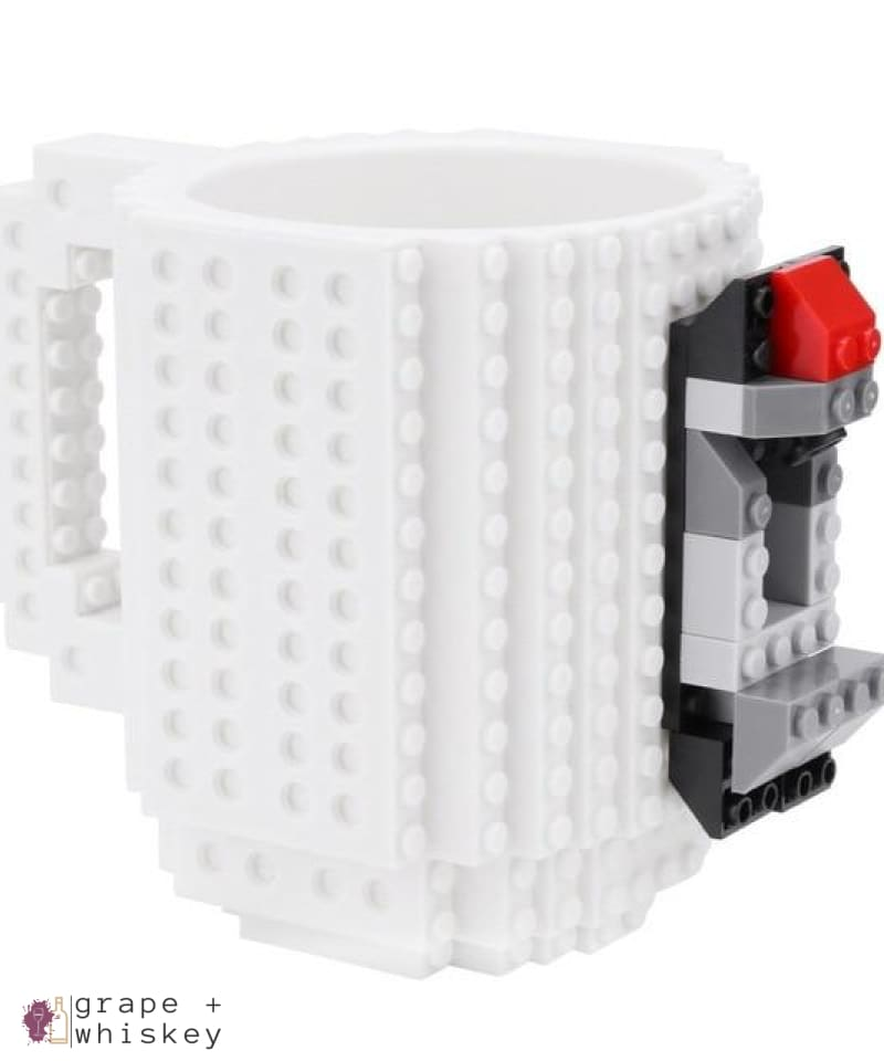 Lego Beer Mug - Drink Safe! - White / 350 ml - Grape and Whiskey