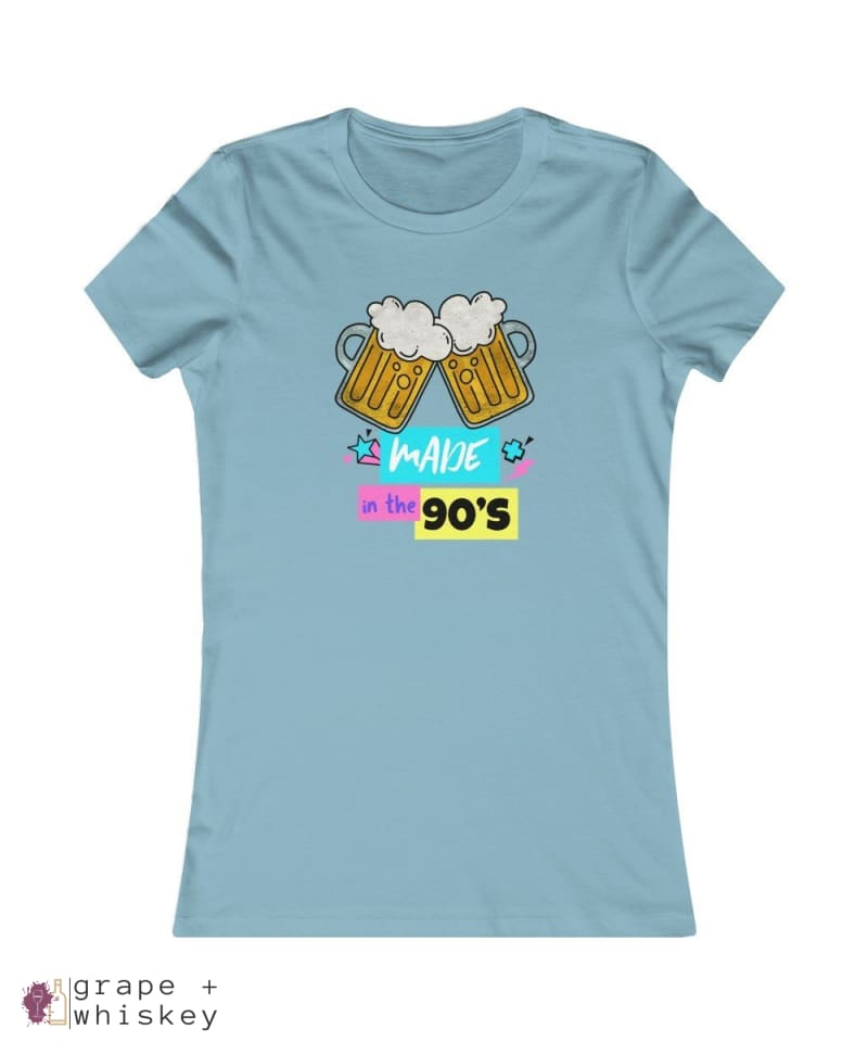 """Made in the 90s"" Women's Favorite Slim-fit Tee - Baby Blue / 2XL - Grape and Whiskey"