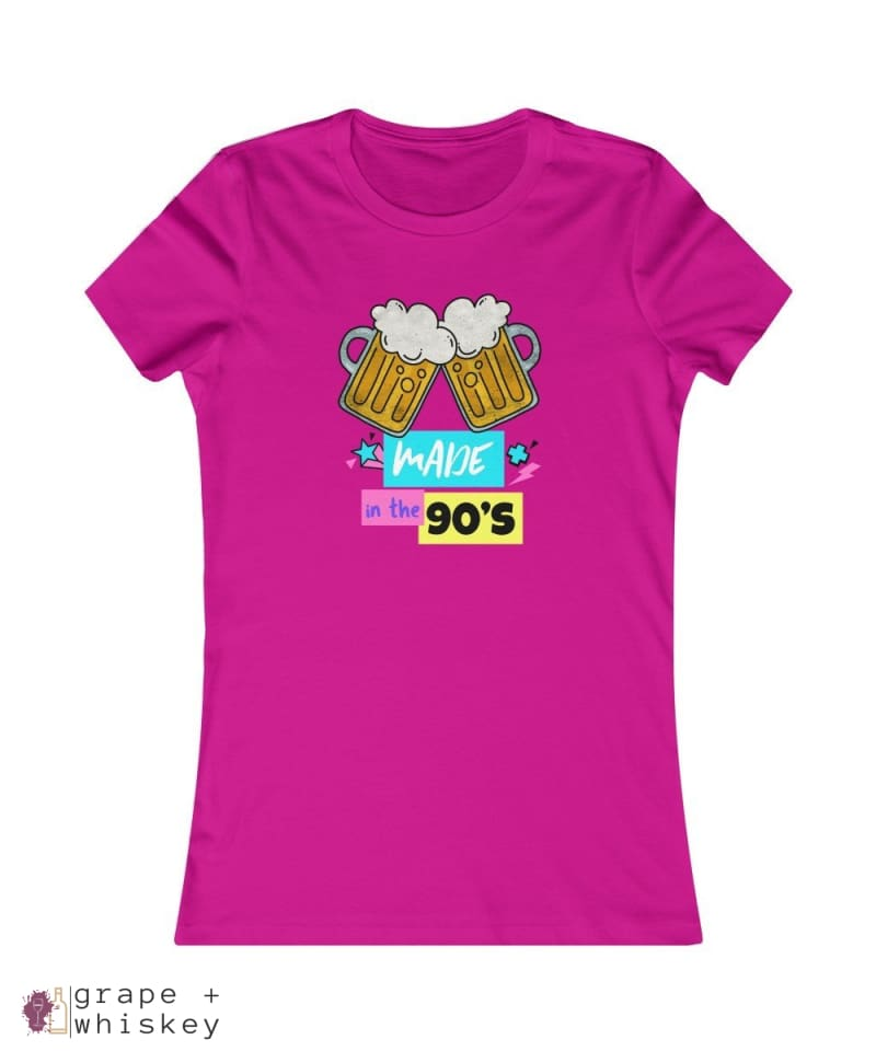 """Made in the 90s"" Women's Favorite Slim-fit Tee - Berry / 2XL - Grape and Whiskey"