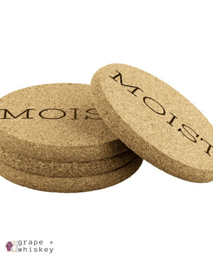 Moist Cork Coasters -  - Grape and Whiskey