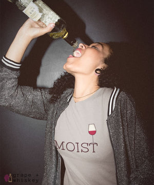 """MOIST"" Women's Favorite Slim-fit Tee -  - Grape and Whiskey"