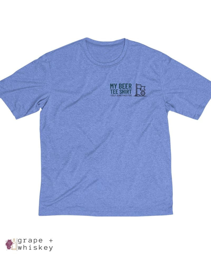 My Beer Tee Shirt Men's Sports Golf Dri-Fit Tee - Grape + Whiskey - grapeandwhiskey.com