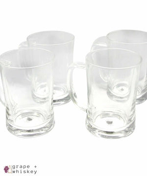 Olde 4-Piece 23 oz. Beer Mugs - Grape + Whiskey - grapeandwhiskey.com