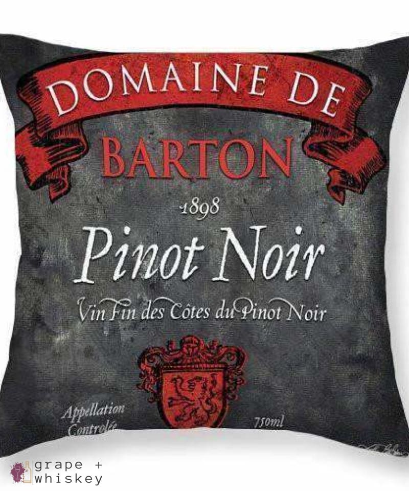 "Pinot Noir Throw Pillow - 26"" x 26"" / No - Grape and Whiskey"