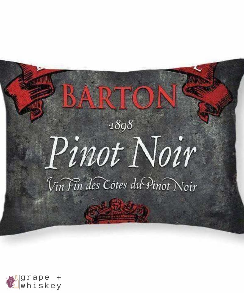 "Pinot Noir Throw Pillow - 20"" x 14"" / No - Grape and Whiskey"