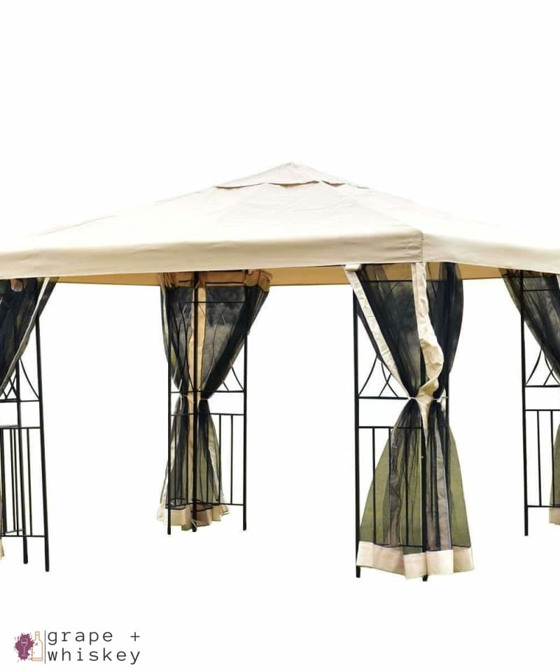 Pop-up 10' x 10' Patio Wine Tasting Gazebo - Default Title - Grape and Whiskey