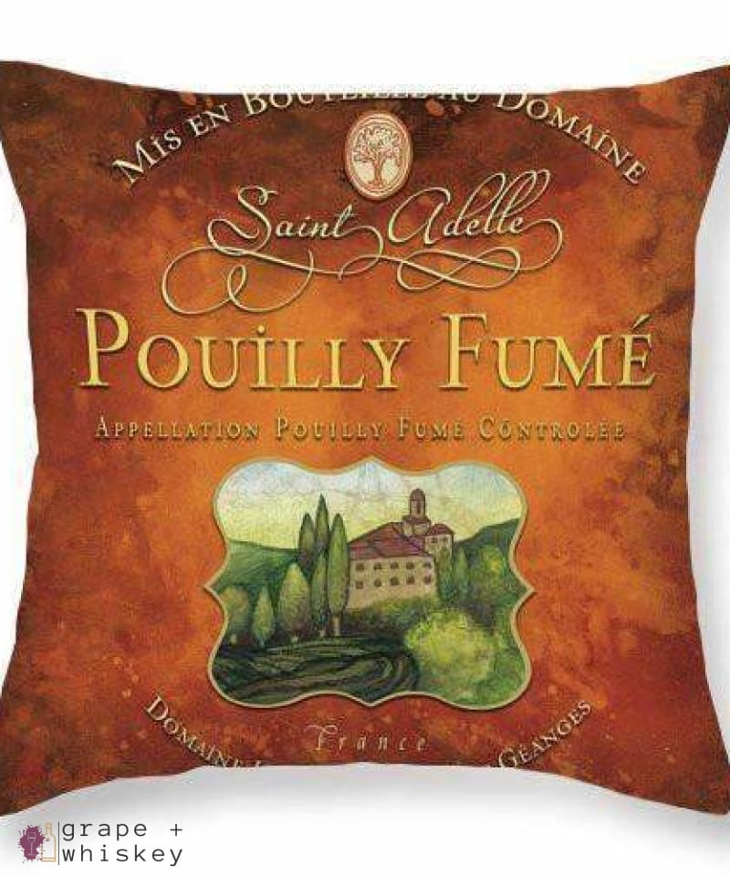 "Pouilly Fume Throw Pillow - 26"" x 26"" / No - Grape and Whiskey"