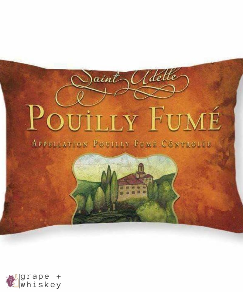 Pouilly Fume Throw Pillow - Grape + Whiskey - grapeandwhiskey.com