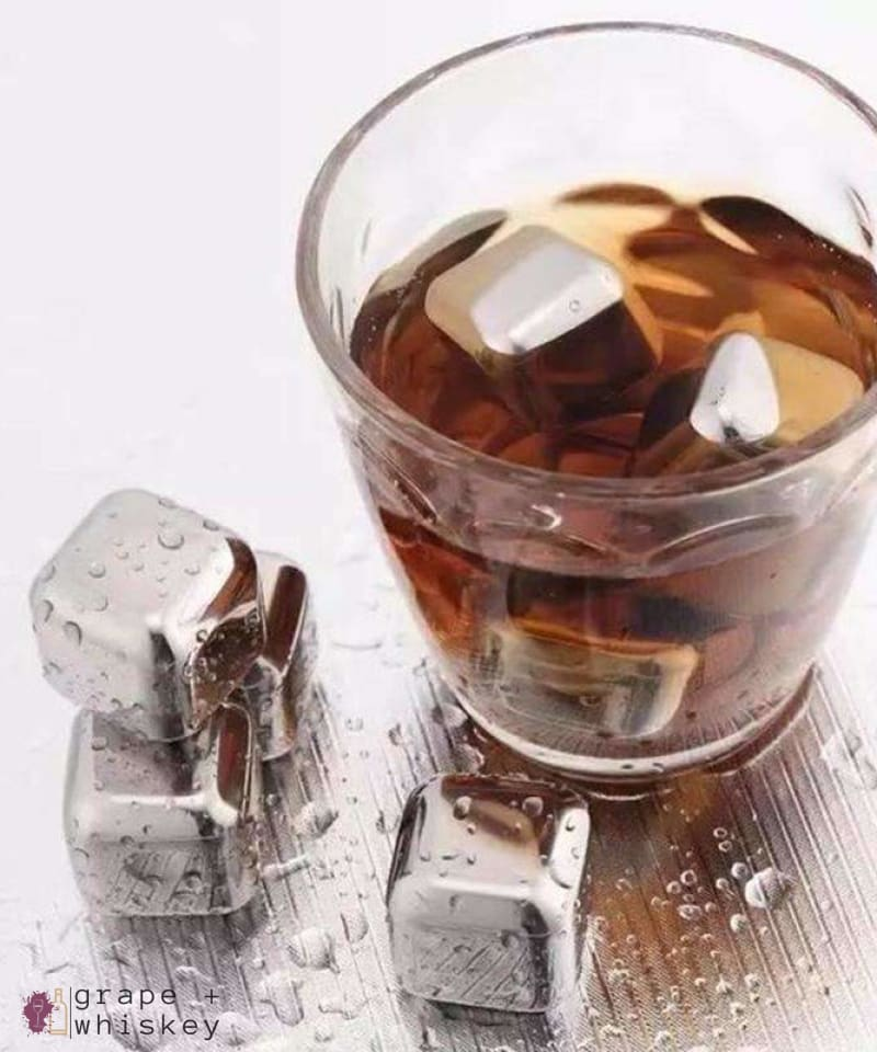 Quick Freezing Whiskey Cubes - Stainless Steel Version -  - Grape and Whiskey