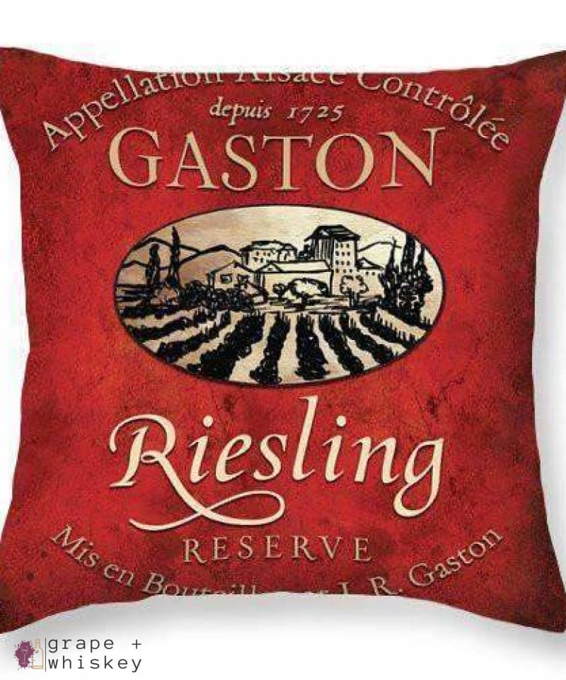 Reisling Throw Pillow - Grape + Whiskey - grapeandwhiskey.com