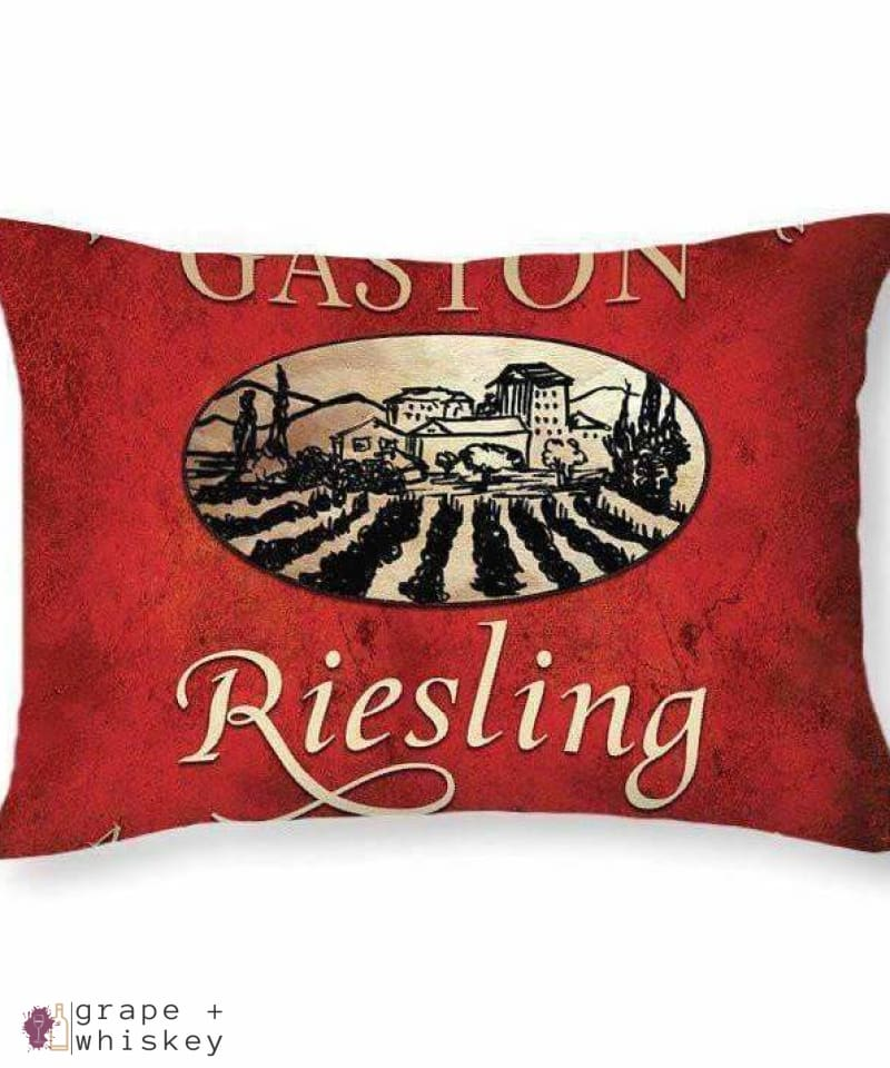"Reisling Throw Pillow - 20"" x 14"" / No - Grape and Whiskey"