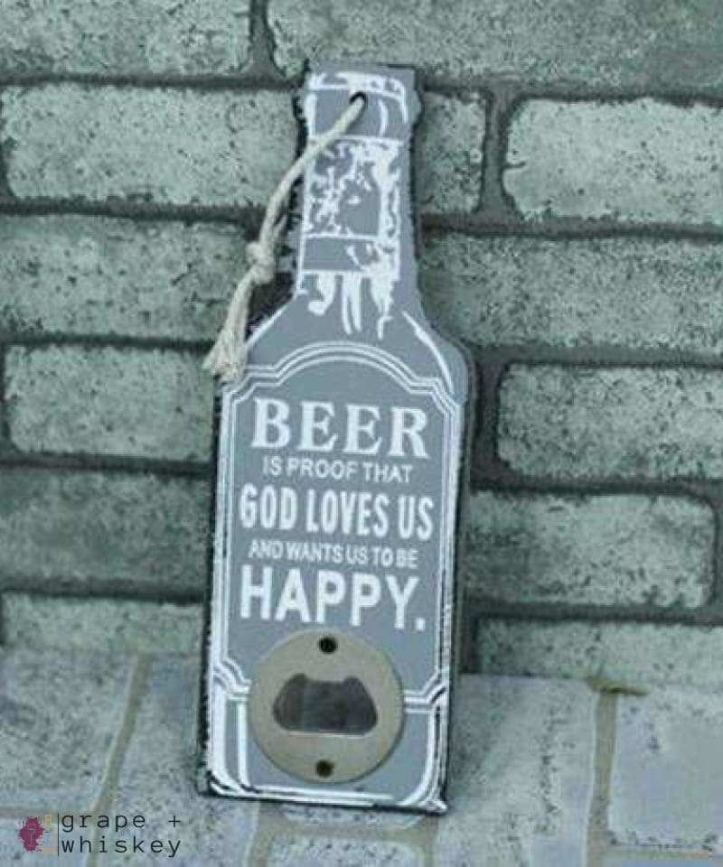 Rustic Beer Bottle Openers - 2 - Grape and Whiskey