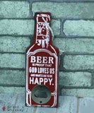 Rustic Beer Bottle Openers - 3 - Grape and Whiskey