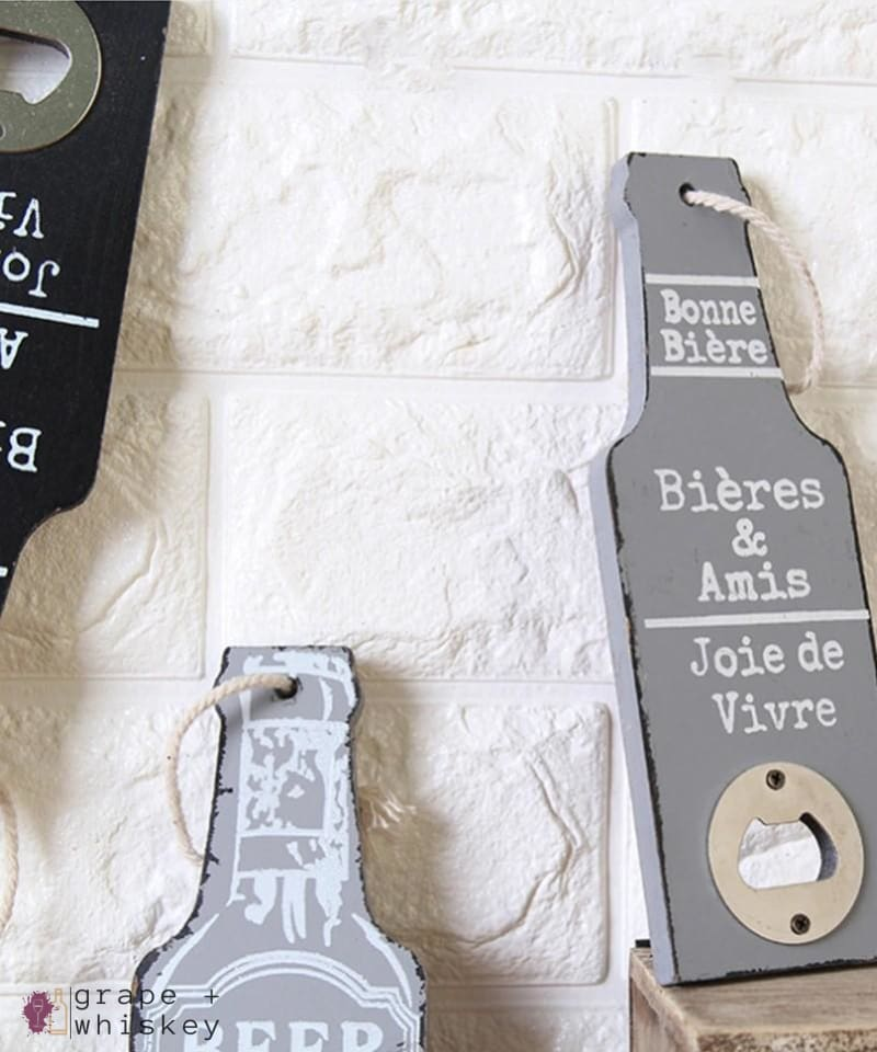 Rustic Beer Bottle Openers -  - Grape and Whiskey