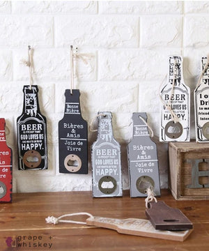 Rustic Beer Bottle Openers - Grape + Whiskey - grapeandwhiskey.com