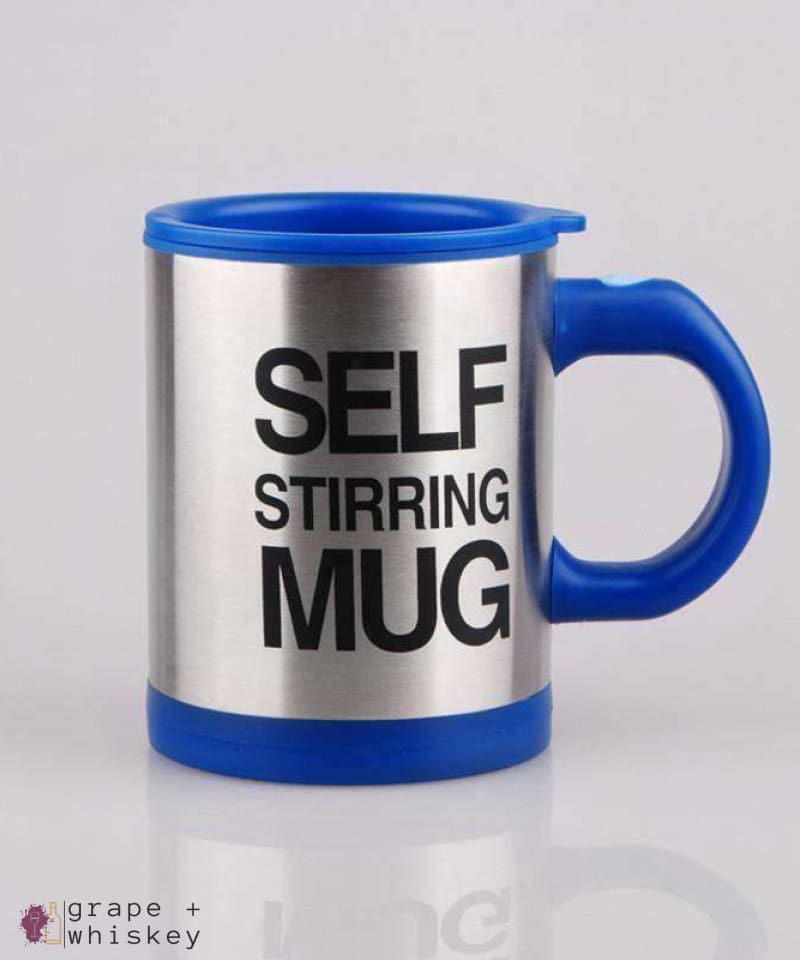 Self Stirring Coffee Mug - Blue - Grape and Whiskey