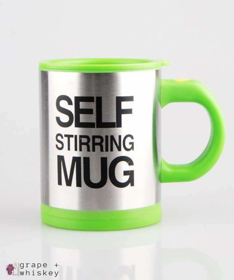 Self Stirring Coffee Mug - Green - Grape and Whiskey