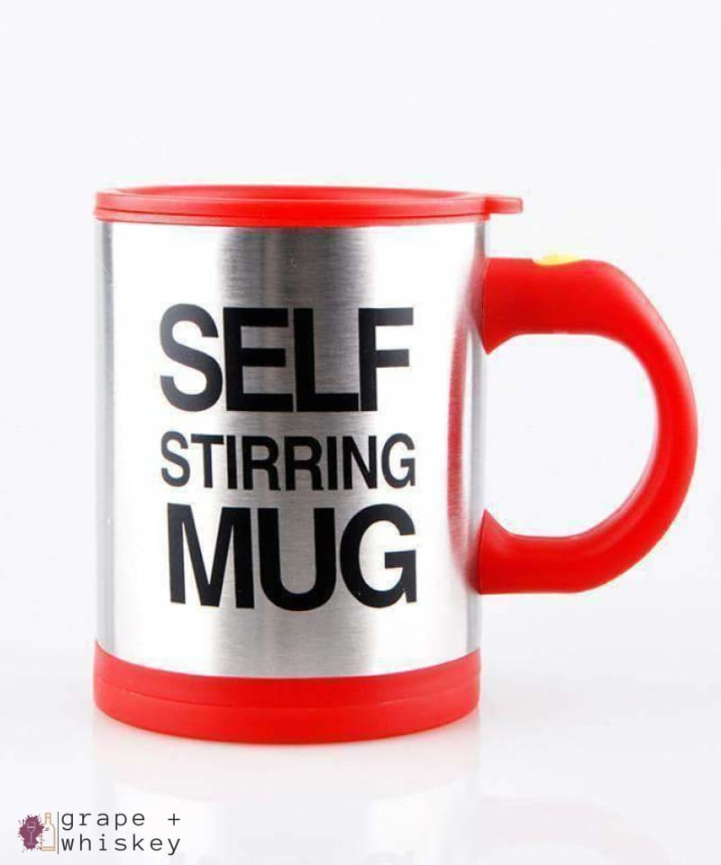 Self Stirring Coffee Mug - Red - Grape and Whiskey
