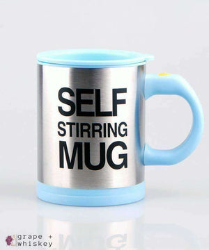 Self Stirring Coffee Mug - Sky Blue - Grape and Whiskey