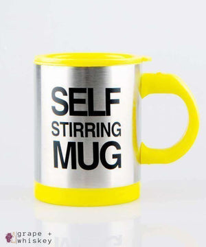 Self Stirring Coffee Mug - Yellow - Grape and Whiskey