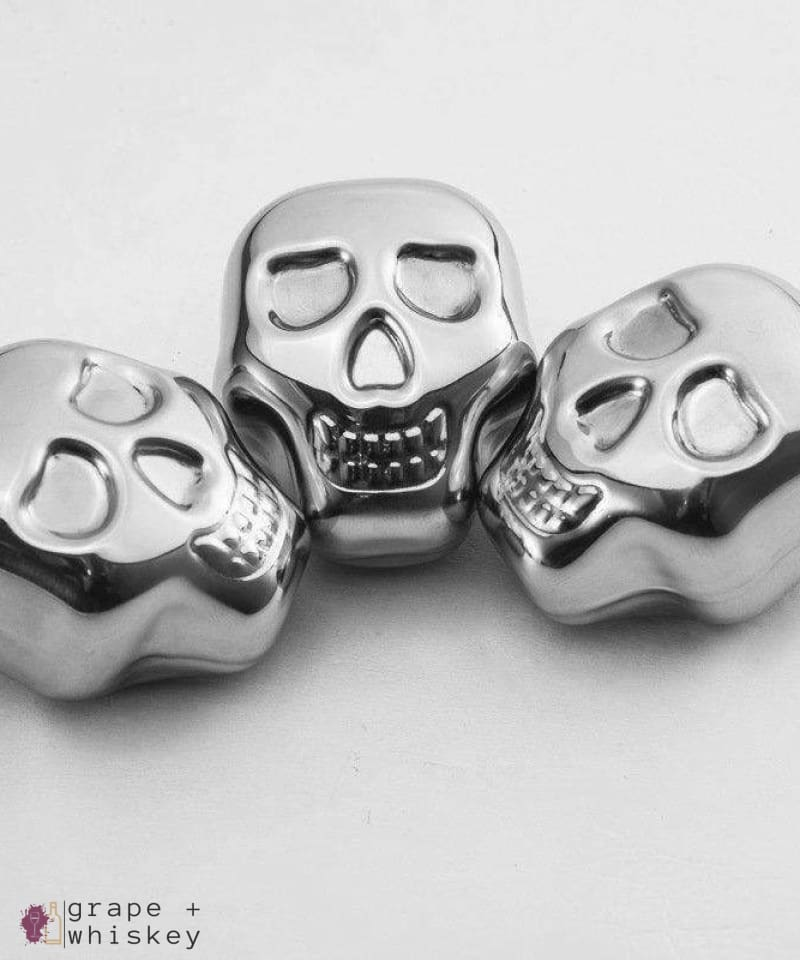 Skull Whiskey Steel Stones - Set of 4 -  - Grape and Whiskey