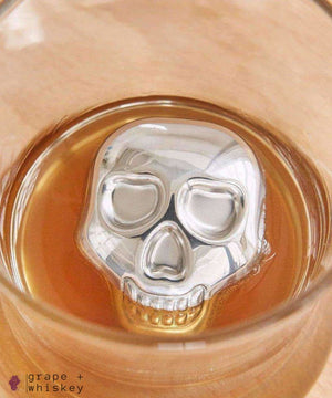 Skull Whiskey Steel Stones - Set of 4 - Grape + Whiskey - grapeandwhiskey.com