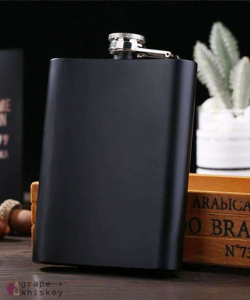 Stainless Steel Flask Gift Set - Grape + Whiskey - grapeandwhiskey.com