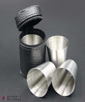 Stainless Steel Shot Glasses -  - Grape and Whiskey