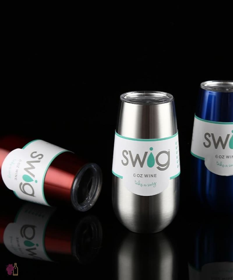 Swig Insulated Wine Flute Tumbler with lid - Grape + Whiskey - grapeandwhiskey.com